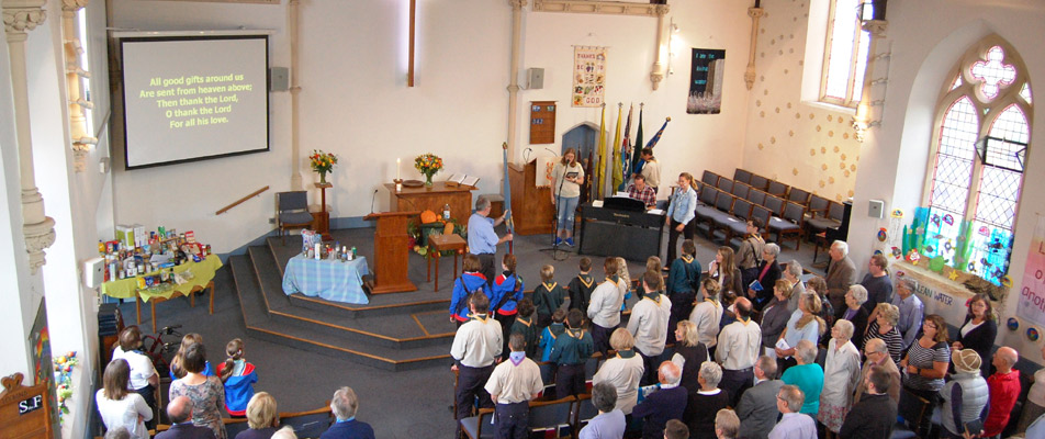 A full church for our Harvest Festival Service