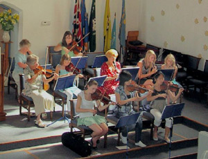 Orchestra Playing at the Church